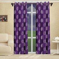 Deal Wala Pack Of 2 Flower Design Door Curtain{sp 05}