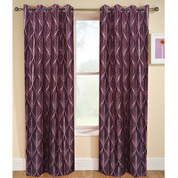 Deal Wala Pack Of 2 Striped Design Door Curtain{sp 06}