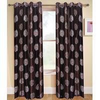 Deal Wala Pack Of 2 Flower Design Door Curtain{sp 09}