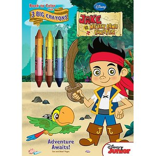Bendon Jake and the Neverland Pirates Coloring Book with Crayons- Adventure Awaits!