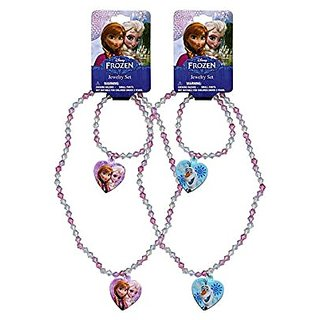 Disney Frozen Necklace and Bracelet set x 2 (1 each Color)