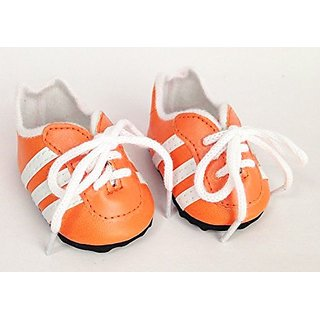 Orange Soccer Shoes For American Girl Dolls