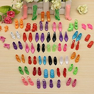 MECO(TM)40 Pairs Doll Shoes Sandals Barbie Shoes Fit Barbie Dolls by Meco