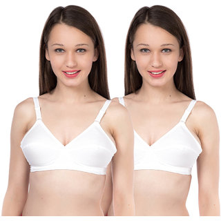 Feelings White Non- Padded Bra