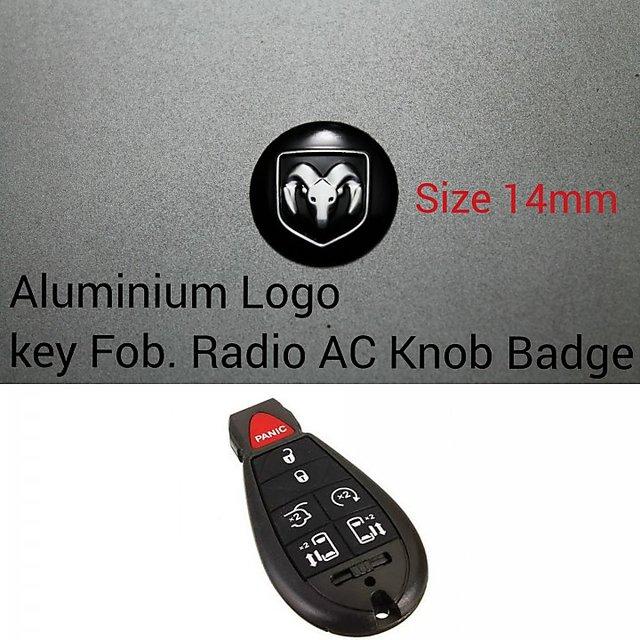 2 x Audi  Key Fob Sticker Replacement 14mm pressed aluminium in Chrome /& Black