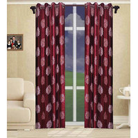 Deal Wala Pack Of 2 Flower Design Door Curtain{sp 10}
