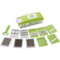 Famous 11 in 1 Stainless Steel Green Slicer Dicer Grater