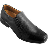 Action Synergy Men's PUMX02 Black Formal Shoes