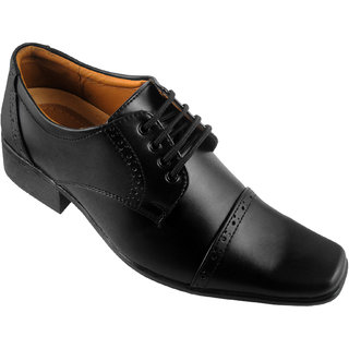 Action Synergy PUG4265 Black Formal Shoes