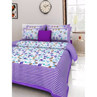 Ruby Creation Cotton Printed 1 Double Bedsheet With 2 Pillow Cover (RUBYDB-1262)