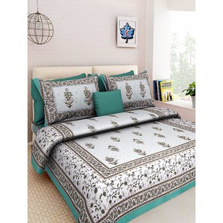 Ruby Creation Cotton Printed 1 Double Bedsheet With 2 Pillow Cover (RUBYDB-702)