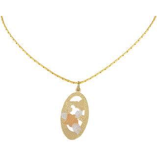 Jewel Fab ArtWonderful Marquoise Shape Gold Plated Pendant Jewelry