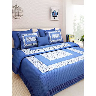 Ruby Creation Cotton Printed 1 Double Bedsheet With 2 Pillow Cover (RUBYDB-1214)