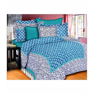Ruby Creation Cotton Printed 1 Double Bedsheet With 2 Pillow Cover (RUBYDB-1231)