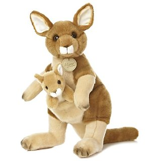 Aurora World Miyoni Mom and Baby, Kangaroo and Joey Plush, 13