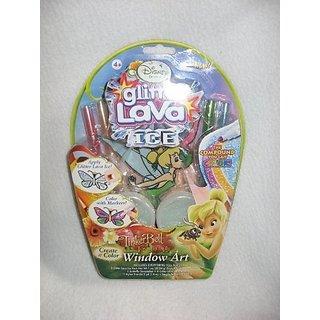 Disney Princess Tinkerbell and the Lost Treasure Glitter Lava ICE Window Art Kit