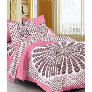 Ruby Creation Cotton Printed 1 Double Bedsheet With 2 Pillow Cover (RUBYDB-1242)
