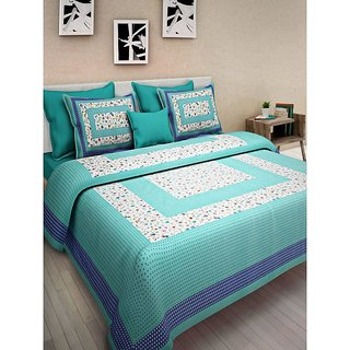 Ruby Creation Cotton Printed 1 Double Bedsheet With 2 Pillow Cover (RUBYDB-639)