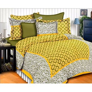 Ruby Creation Cotton Printed 1 Double Bedsheet With 2 Pillow Cover (RUBYDB-1599)