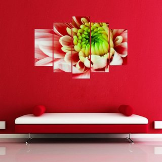 Impression Wall White N Red Rose PVC Printed Wall Sticker