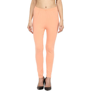 Sakhi Sang Solid Peach Ankle Leggings