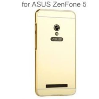 Vinnx Mirror Back Cover For Asus Zenfone 5 Premium Luxury Metal Bumper Acrylic Mirror Back Cover Case For Asus Zenfone 5 - Golden