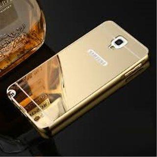 Samsung Galaxy Note 3 Neo Luxury Metal Bumper Acrylic Mirror Back Cover Case-Golden