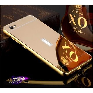 Vinnx MIRROR CASE Vivo X5 Pro GOLD METAL BUMPER WITH A MIRROR BACK COVER