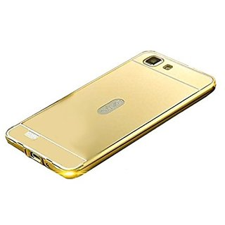 Mirror Case For Vivo Y27 Luxury Ultra Slim Metal Aluminum Frame + Acrylic Phone Back Cover Case For Vivo Y27 Case - Golden