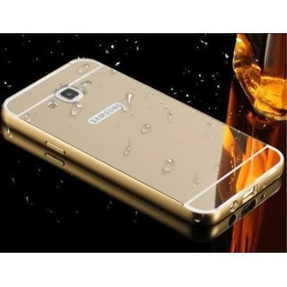 Vinnx Luxury High Quality Material Ultra All Edges Protection + Mirror Effect With Bumper Case Cover For Samsung Galaxy J5(2016)/J510 (GOLDEN)