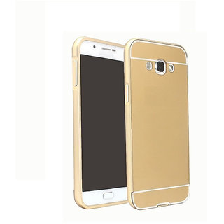 Vinnx Mirror Back Cover For Samsung Galaxy Grand 2 Duos G7106 Premium Luxury Metal Bumper Acrylic Mirror Back Cover Case For Samsung Galaxy Grand 2 Duos G7106 - Golden