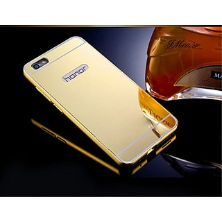 VinnxHuaweiHonor 4C Luxury Metal Bumper + Acrylic Mirror Back Cover Case For HuaweiHonor 4C (Golden)