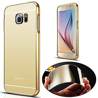 Vinnx Luxury Electroplating Mirror Case ForSamsung Galaxy S6 Clear Mirror Effect Golden Hard Back Cover For Samsung Galaxy S6 Case - Golden
