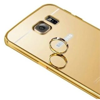 Vinnx Golden Effect Luxury Metal Bumper Acrylic Mirror Back Cover Case For Samsung Galaxy S7