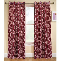 Deal Wala Pack Of 2 Striped Design Door Curtain{sp 13}