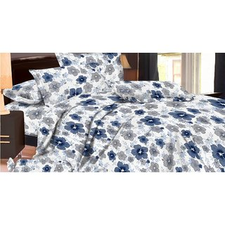 Triveni Floral Print Bedsheet With 2 Pillow Covers (Multi)