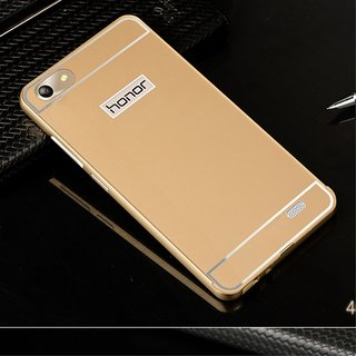 huaweihonor 4x back cover luxury metal bumper acrylic mirror back cover case for huaweihonor 4x