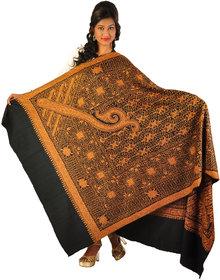 Women's Kashmiri Hand-Embroidered Cashmere Pashmina Shawl Wrap