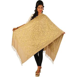 Women's Kashmiri Semi-Cashmere Pashmina Embroidered Stole Wrap Scarf