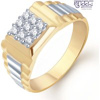 Sukkhi Gold And Rhodium Plated Cz Ring For Men(108Grk540)