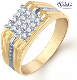 Sukkhi Gold And Rhodium Plated Cz Ring For Men(101Grk600)