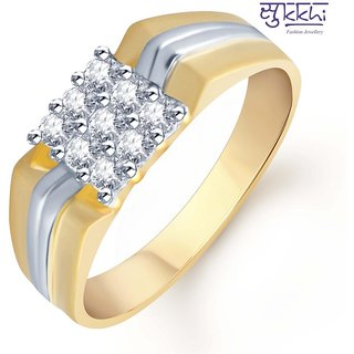 Sukkhi Gold And Rhodium Plated Cz Ring For Men(107Grk480)