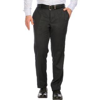Donear NXG Black Coloured Formal Men's Trouser FTR-4034-CHARCOAL