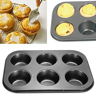 Unique Cartz Muffin Tray 6 Bakeware Cup Mould(Pack of 1)