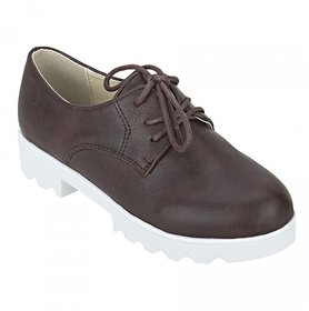 Joy n Fun Brown Coloured Formal Shoes