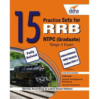 15 Practice Sets for RRB NTPC Stage II Exam  (Graduate)