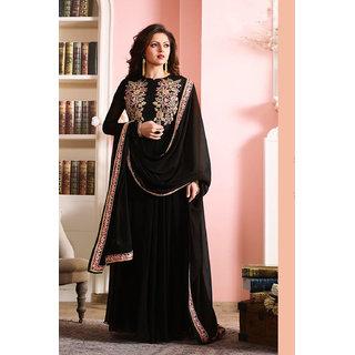 Ap enterprises BLACK COLOR LATEST INDIAN DESIGNER ANARKALI SALWAR KAMEEZ DRESS for women  girls party wear stitched For