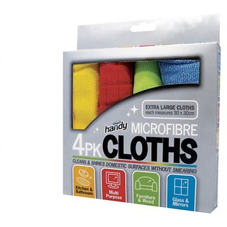 s4d Microfiber Cleaning Cloth (Set of 4)