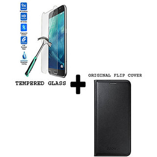 Samsung Galaxy ON 5 Combo Of Flip Cover And Tempered Glass