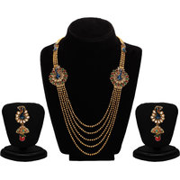 Sukkhi Gold Plated Multicolor Necklace Set For Women